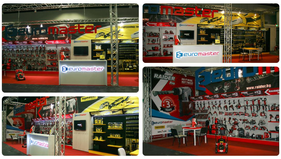 "Euromaster presents its top brands RAIDER and Topmaster at the ""Eisenwarenmesse - International Hardware Fair"" in Cologne."
